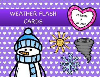 Body Parts, Colors & Weather Flash Cards, Puzzles and Activities