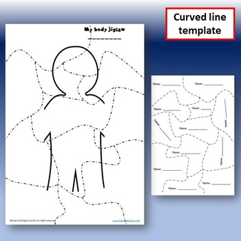 Body Parts - Create and Cut Jigsaw - Language through Games and Craft - ESL /EFL
