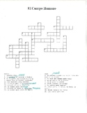 Body Parts Crossword With Spanish Clues