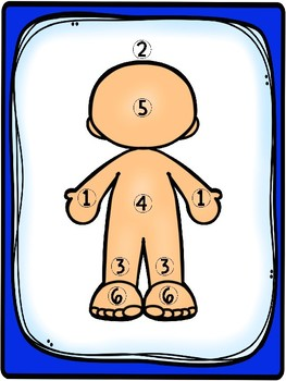 Body Parts Dice Game