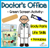 Body Parts - Doctor's Office Green Screen Activity