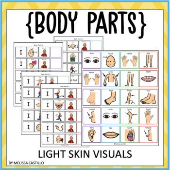 Body Parts (Fill-in sentence) Light skin Visuals