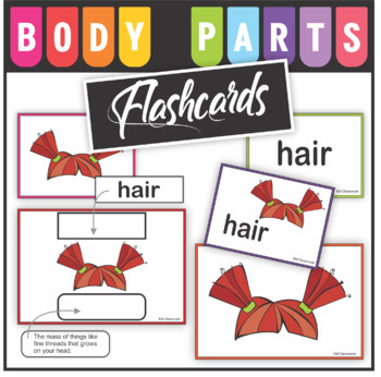 Body Parts Word Wall Cards, Flash Cards - Word Cards