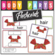 Body Parts Flash Cards - Word Cards