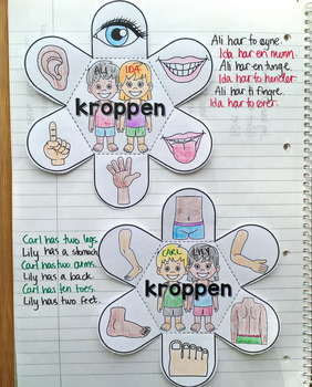 Body Parts - Interactive Notebook Activity and Game