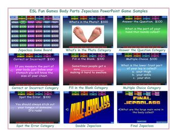 Body Parts Jeopardy PowerPoint Game Slideshow CP