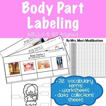 Body Parts Labeling-ABLLS-R Aligned