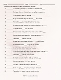 Body Parts Matching Spanish Worksheet