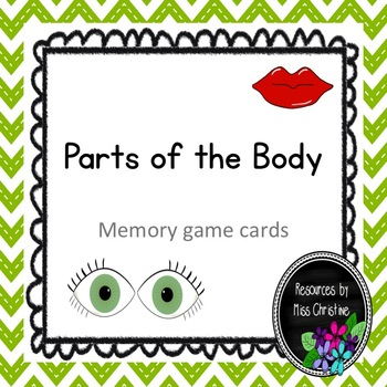 Parts of the Body Memory Game Cards