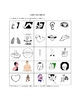 Body Parts Picture Bingo and Hidden Words Puzzle. English