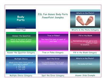 Body Parts PowerPoint Slideshow