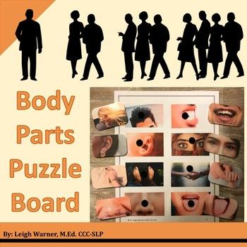 Body Parts Puzzle Board