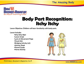 Body Parts Recognition - Itchy Itchy Mp3 Song with Lesson Materials