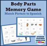 Body Parts Spanish Memory Game