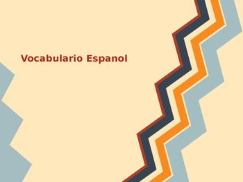 Body Parts Spanish Vocabulary