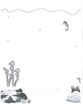 Body Parts - Underwater Scene Drawing