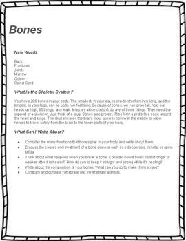 Body Parts Unit Study