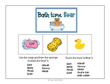 Body Parts Vocabulary- Following Directions Bear