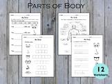Body Parts Worksheets, Sense Organs Worksheets, Tracing Bo