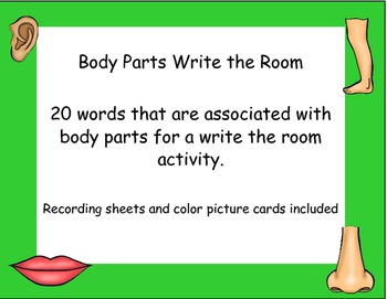 Body Parts Write the Room