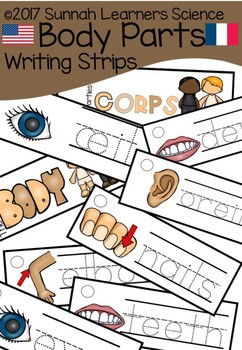 Body Parts Writing Strips