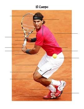 Body Parts and Face labeling - Shakira and Rafael Nadal