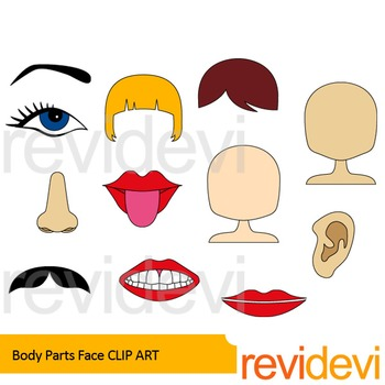 Body Parts clip art - Face clip art