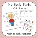 Body Parts cut/paste labeling and wh-question activity