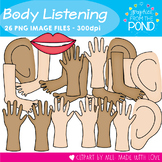 Body Parts for Listening - Clipart for Teachers and Classrooms