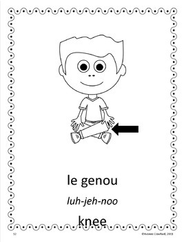 Body Parts Activities and Games in French - Le Corps en Français