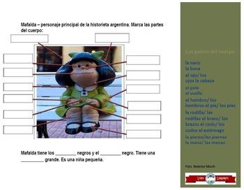 Body Parts in Spanish - Label Mafalda