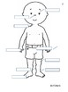 Body Parts in Spanish Worksheet