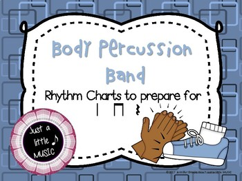 Body Percussion band -- reading practice charts preparing for ta titi rest