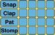 Body Percussion Beat/Rhythm Chart