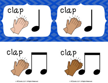 Body Percussion Cards - Sample