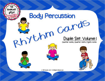 Body Percussion Cards - Duple Level 1