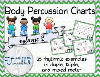Body Percussion Charts - Volume 2