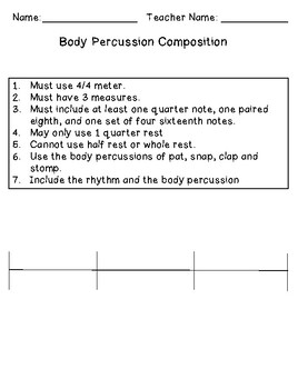 Body Percussion Composition