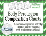 Body Percussion Composition Charts