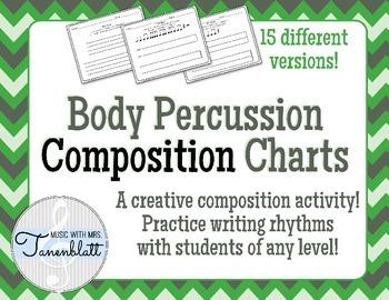Body Percussion Composition Charts