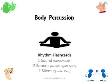 Body Percussion Performance Flashcards: Rhythm: 1 Sound, 2