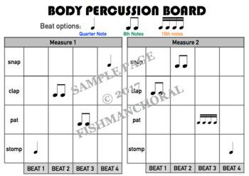 Body Percussion Template