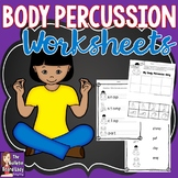 Body Percussion Worksheets