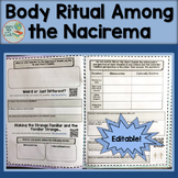 Sociology Culture Body Rituals Among the Nacirema Editable