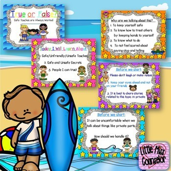 Body Safety: Learning about Safe & Unsafe Touches SMARTboard (abuse prevention)