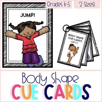 Body Shape Cue Cards - DANCE