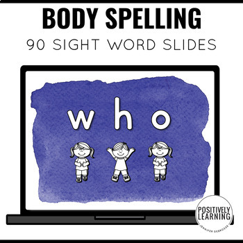 Body Spelling Sight Word Screen Slides