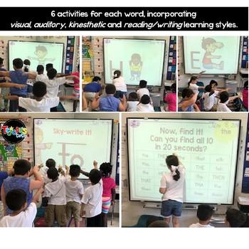 Body-Spelling Sight Words PowerPoint: Set 3