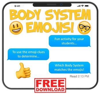 Body System Emojis! FREE download! by The Purposeful