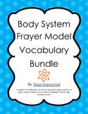 Body System Frayer Models Vocabulary Bundle